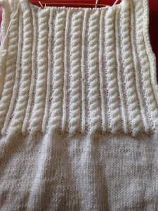 Back of cardigan
